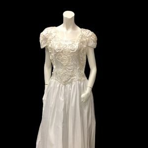 Alfred Angelo Tea Length  Plus Size Wedding Dress